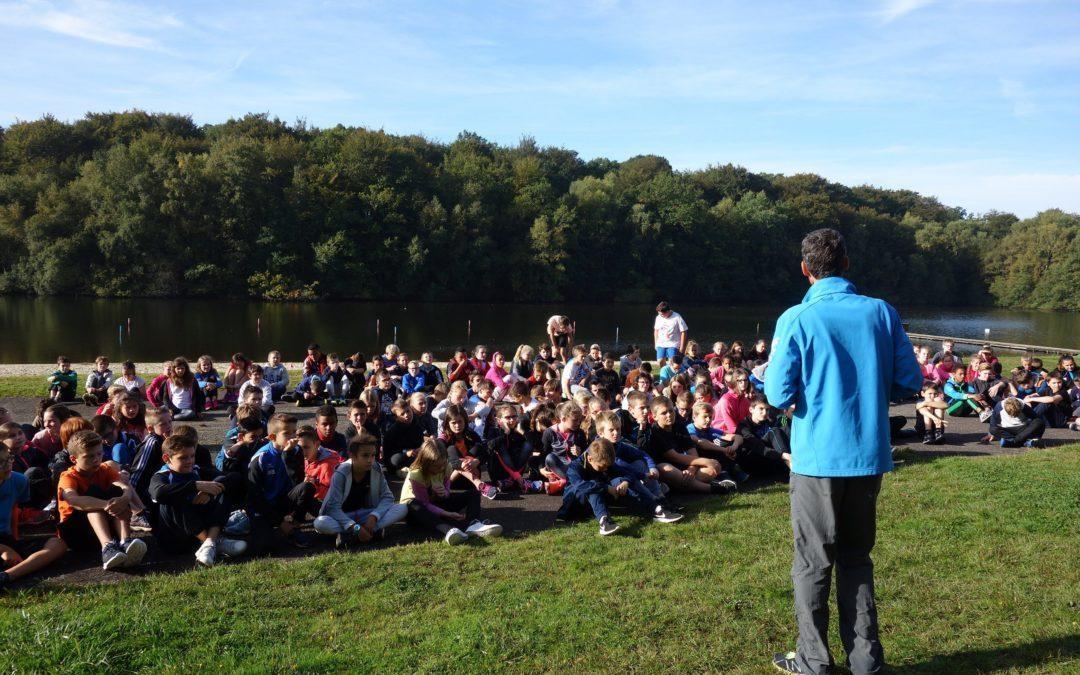 Première sortie- la journée du sport scolaire en forêt de Fougères.