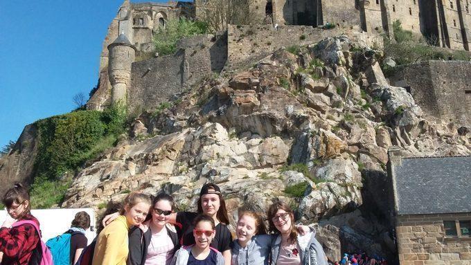 Les allemands et leurs correspondants au Mont St. Michel