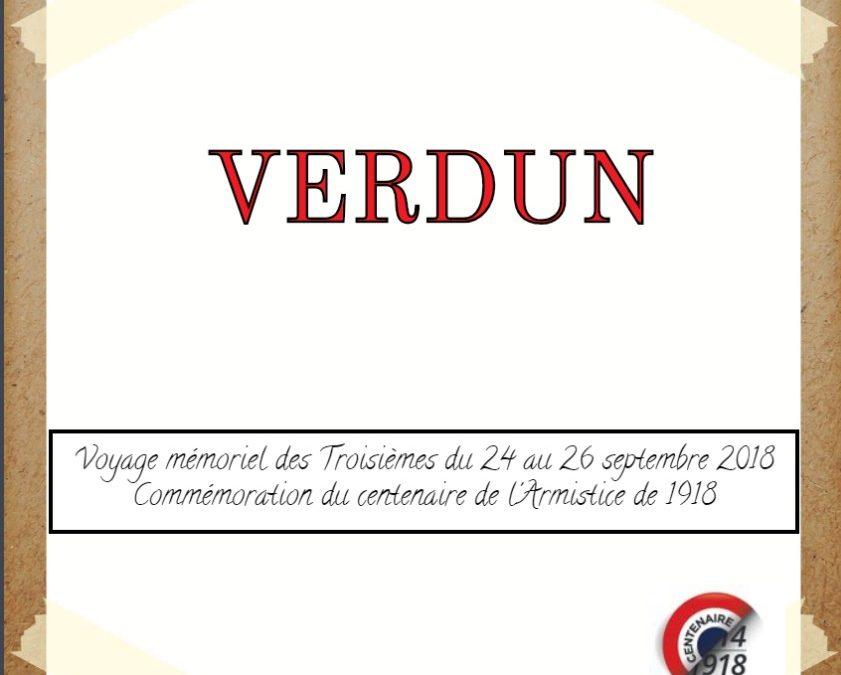 Le carnet de voyage mémoriel des Troisièmes à Verdun