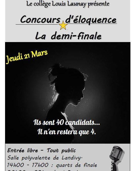 21 mars : demi-finale du concours d'éloquence  !