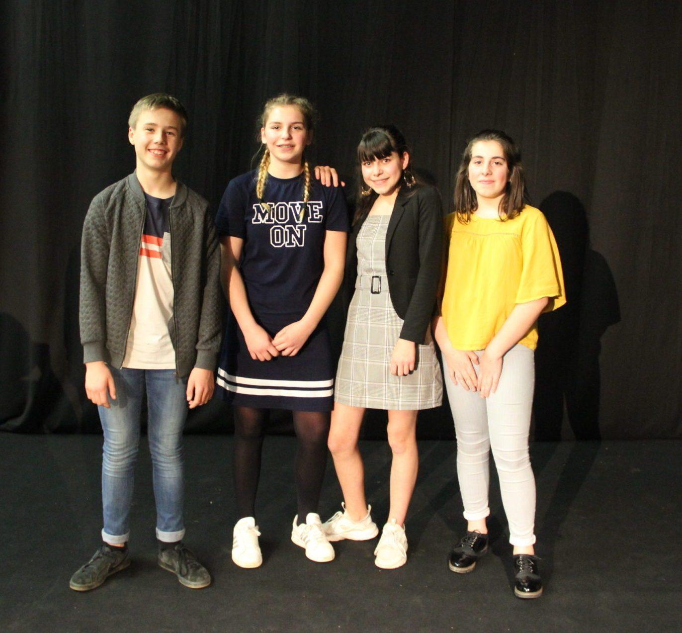 Les finalistes : Joachim, Lauralee, Morgane, Enora